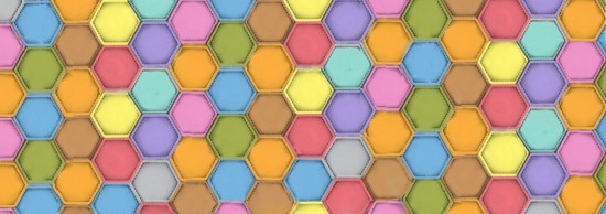 color_honeycomb_background_tile_sample